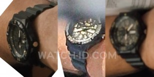These shots of the watch on Kevin James' wrist clearly show the details of the Casio MRW-210H-1A2VCF
