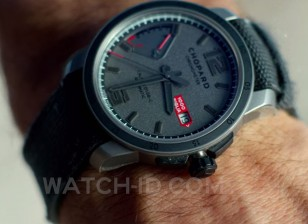 The Chopard Mille Miglia GTS Power Control Grigio Speziale gets a good close-up in the film