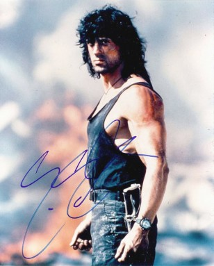 Sylvester Stallone wears a Chronosport UDT Sea Quartz analogue/digital diver's watch in Rambo III.