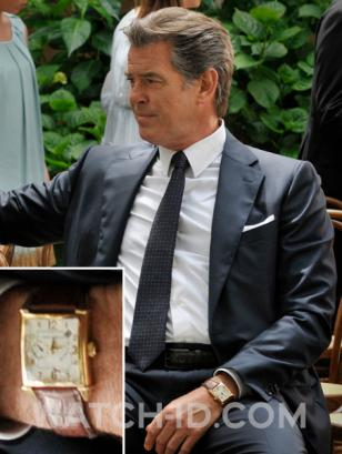 Pierce Brosnan wearing a Girard-Perregaux Vintage 1945 in Love Is All You Need