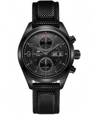 Hamilton Khaki Field Auto Chrono reference H71626735 with rubber strap reference H600.684.136.