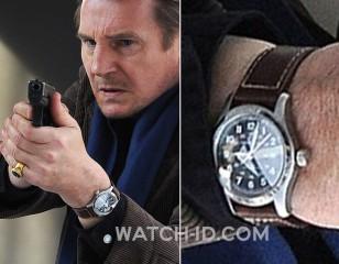 Liam Neeson wears a Hamilton Khaki Field watch in A Walk Among The Tombstones.