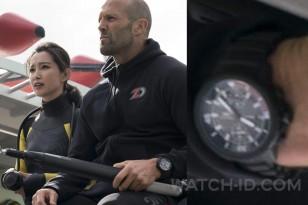 Jason Statham wears an IWC Aquatimer Chronograph Edition La Cumbre Volcano in The Meg.