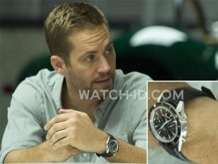 Paul Walker wears a Jaeger-LeCoultre Deep Sea Chronograph in Fast Six