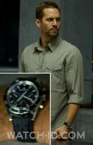 Paul Walker wears a Jaeger-LeCoultre Deep Sea Chronograph Q2068570 in the movie