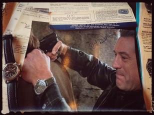 Robert De Niro signed a photo for Jardur watches. Image via Jardur Facebook page.