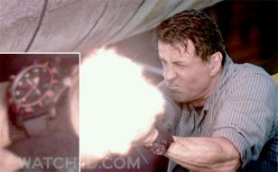 Sylvester Stallone wearing a Luminox Black Ops A.8815 in Escape Plan