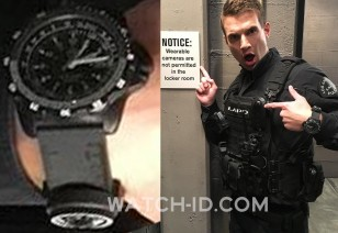 Alex Russell wears a Luminox Recon NAV SPC 8831.KM.L tactical watch in the CBS tv series S.W.A.T.