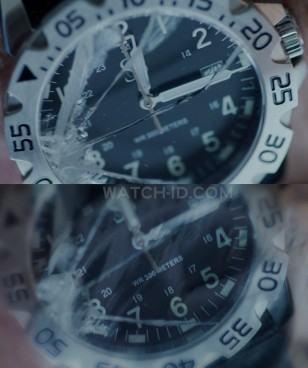 Close-up of the diver's watch in Ten Minutes Gone.