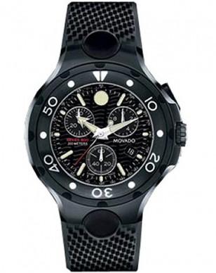 Movado 800 Chronograph 2600073, all black PVD watch