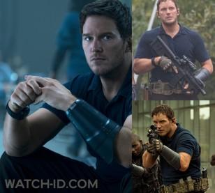 Chris Pratt wears the MTM Special Ops wristwatch upside down (case below his wrist) throughout in The Tomorrow War.