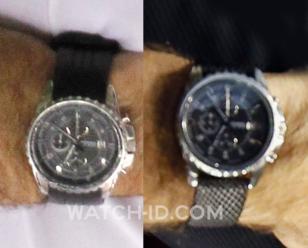 Close-up of Nick Saban's watch