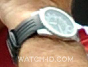 The 'old' rubber strap on the watch had three stripes.