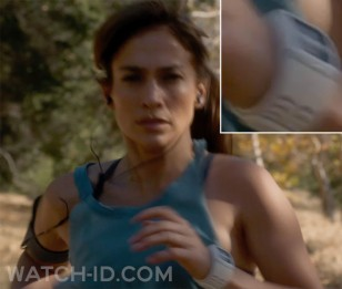 Jennifer Lopez wears a Nike+ Sport Watch GPS Powered by TomTom while running in the movie The Boy Next Door