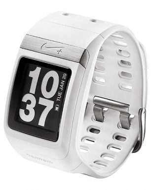 Nike+ SportWatch GPS powered by TomTom Running Watch, white/silver WM0070-100