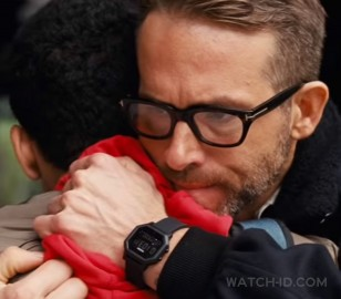 Ryan Reynolds wears a Nixon Siren wristwatch in the 2019 film Detective Pikachu.