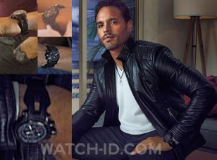 Daniel Sunjata, as Paul Briggs, wearing the Oakley Holeshot watch in the first s
