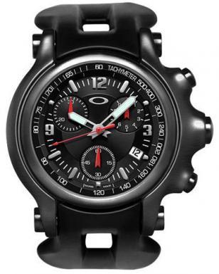 Oakley Holeshot® 10-228 stealth, with black rubber strap, black dial, black case