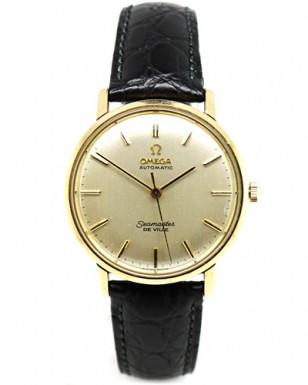 1960's Omega Seamaster Deville with 18ct gold case (the watch in the film has a Date window at the 3 o'clock position, see below)