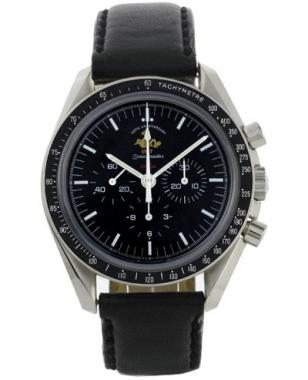 Omega Speedmaster Professional 50th Anniversary with black leather strap