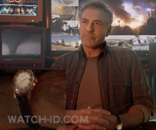 George Clooney wears a vintage 1958 Omega Constellation in Tomorrowland A World Beyond