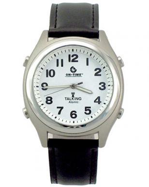 On-Time Atomic Talking Watch