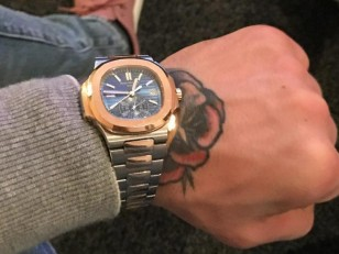 McGregor showed off the Patek Philippe watch in March 2017 on Instagram.