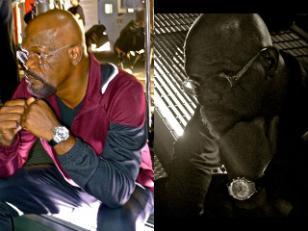 Nich Fury (Samuel L Jackson) wearing a Piaget Polo watch in The Avengers
