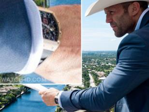 Jason Statham wears a Richard Mille watch in the movie Parker.