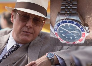 """James Spader's character Raymond """"Red"""" Reddington wears a Rolex GMT-Master on a Jubilee bracelet in NBC's show The Blacklist."""