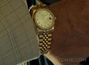 Details of the Rolex Oyster Perpetual DateJust worn in Wonder Woman 1984 can be seen in this close up shot