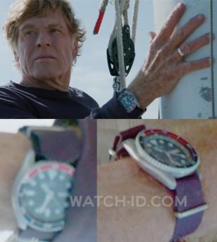 Robert Redford wears the Seiko with Pepsi bezel and navy NATO strap (image is en