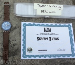 The Swatch Daily Friend hero watch worn by Taylor Lautner in Scream Queens