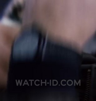 Jason Bourne's watch is a black Tag Heuer watch, black dial, black strap, model not yet confirmed