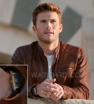 Scott Eastwood wears a TAG Heuer Monaco watch in the 2017 movie Overdrive.