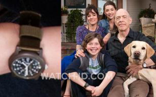 Eli Baker, as Henry Fisher, wears a Timex Originals Camper wristwatch in Growing