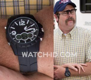 In We're The Millers, Nick Offerman wears a watch similar to the U.S. Polo Assn.
