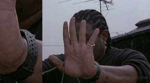 Forest Whitaker wears a Victorinox Swiss Army 24242 Renegade watch with Compass in the movie Ghost Dog.