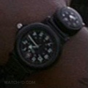The Victorinox Swiss Army 24242 Renegade watch with Compass in the movie Ghost Dog, on the wrist of Forest Whitaker.