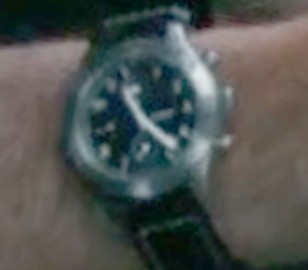 Enhanced close-up image of the watch worn by JK Simmons in The Tomorrow War