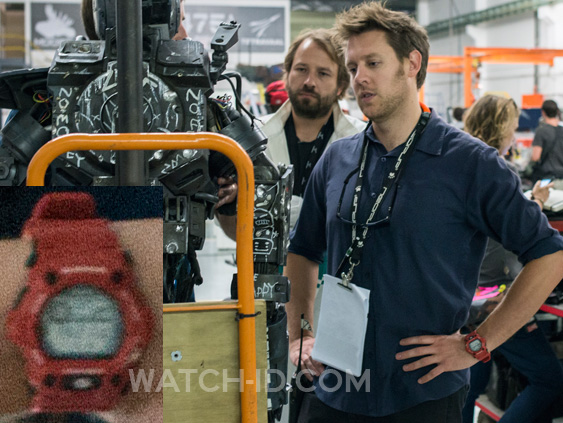 Director Neill Blomkamp wears a Casio G-Shock G7900A-4 on the set of his latest film Chappie.