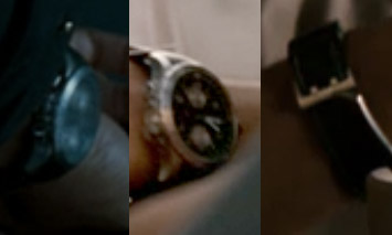 The only sightings of the second watch. Two white subdials on a dark dial and a
