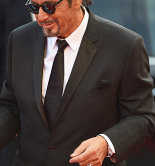 Al Pacino walks down the red carpet at the Venice Film Festival premiere with a Jaeger-LeCoultre Master Ultra Thin Réserve de Marche watch on his wrist