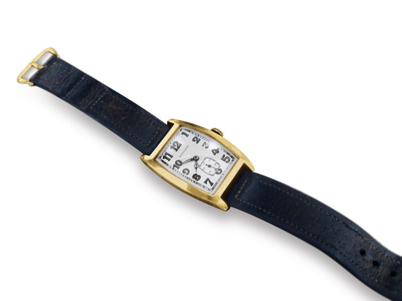 The actual gold Longines watch owned by Einstein, as auctioned in 2008.