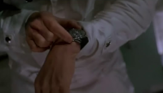 An Omega Speedmaster with velcro band in Apollo 13