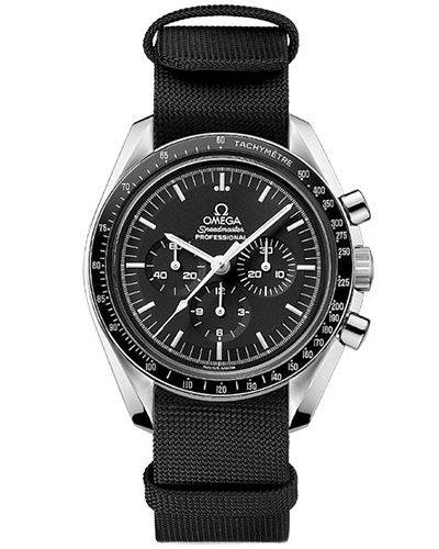 Omega Speedmaster Professional with black NATO strap