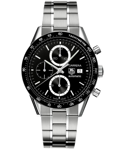 tag heuer carrera automatic chronograph tachymetre with black dial
