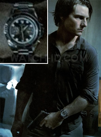 Tom Cruise with a Tudor Heritage Chrono watch in a promotional photo for Mission