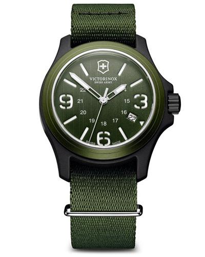 Victorinox Swiss Army Original 241514, green and black case, green NATO strap