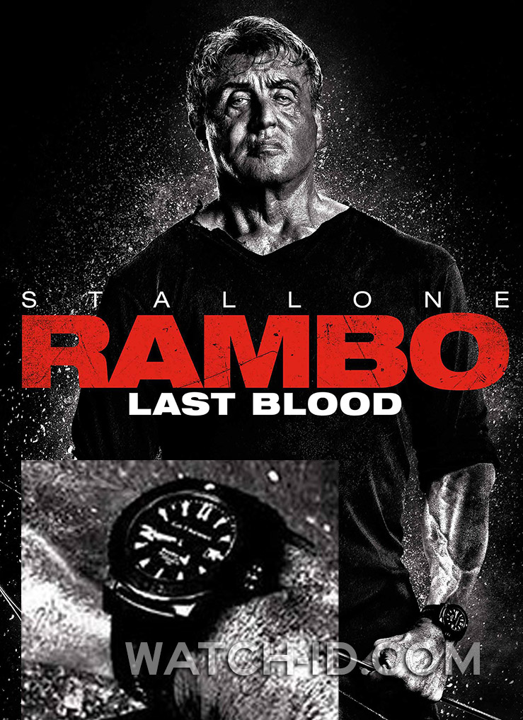 Carl F Bucherer Patravi Scubatec Black Sylvester Stallone Rambo Last Blood Watch Id